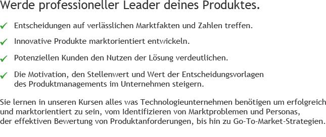 Schulungen Produktmanagement