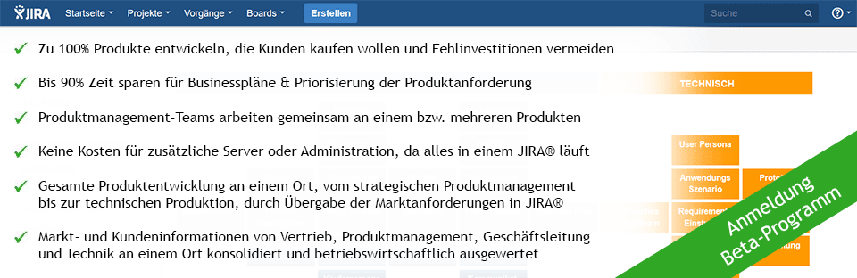 Software Produktmanagement Plugin Jira