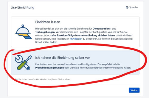 JIRA installieren mit windows