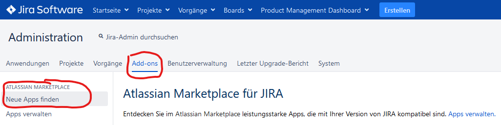 JIRA Add-on Manager